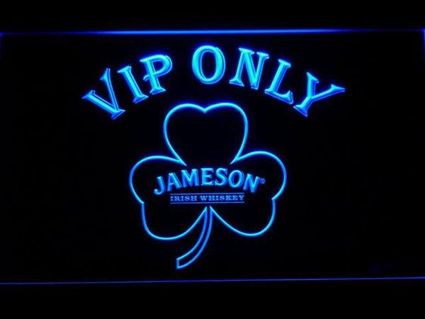 Jameson Shamrock VIP Only  LED Neon Sign 680 - Blue