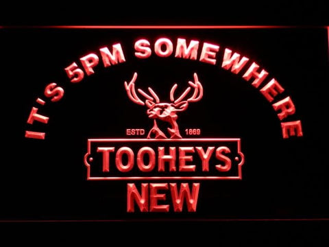 Tooheys It's 5pm Somewhere LED Neon Sign 691 - Red