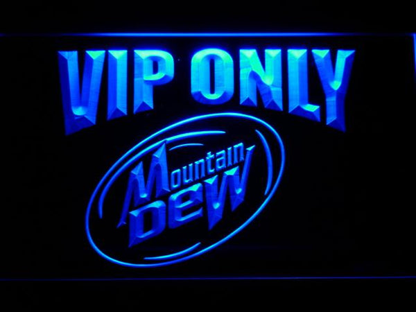 Mountain Dew VIP Only LED Neon Sign 698 - Blue