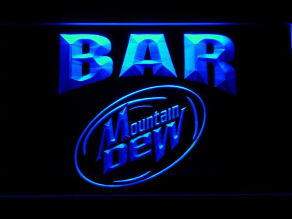 Mountain Dew Bar LED Neon Sign 699 - Blue