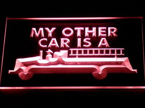 Fire Department Firetruck LED Neon Sign 718 - Red