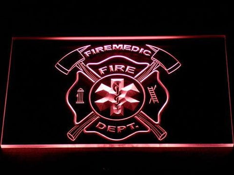 Fire Department Fire Medic LED Neon Sign 722 - Red