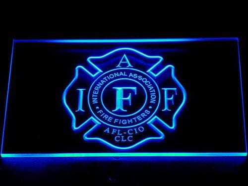 IAFF Firefighter International Association of Fire Fighters LED Neon Sign 723 - Blue