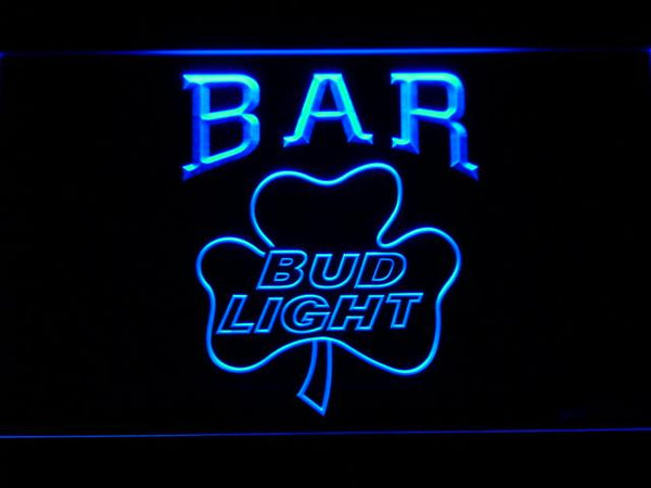 Bud Light Shamrock Bar LED Neon Sign 810 - Blue