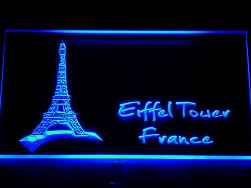 Eiffel Tower France LED Neon Sign 851 - Blue