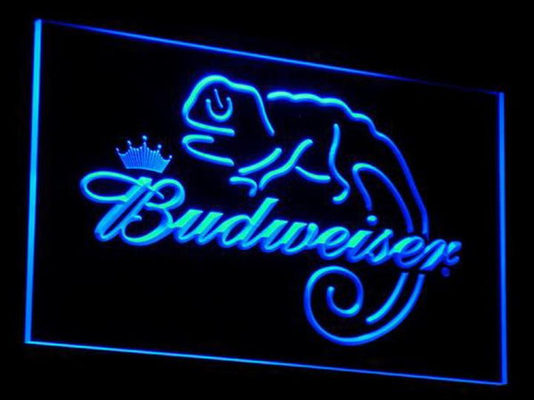 Budweiser Frank Lizard Beer LED Neon Sign