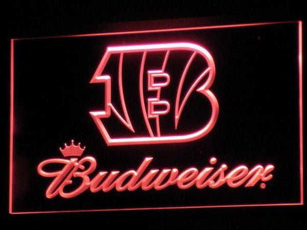 Cincinnati Bengals Budweiser LED Neon Sign