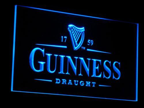 Guinness Vintage LED Neon Sign a002 - Blue