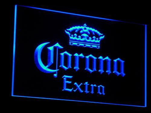Corona Extra Beer Par LED Neon Sign a013 - Blue