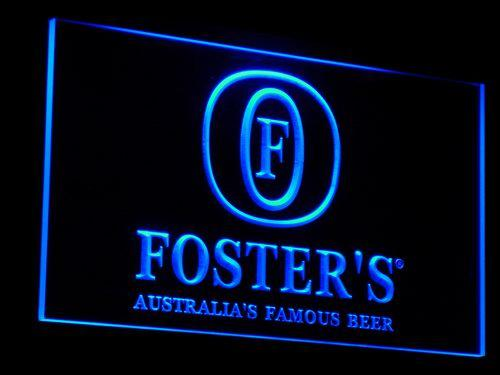 Fosters Beer Bar Pub Displays LED Neon Sign a014 - Blue