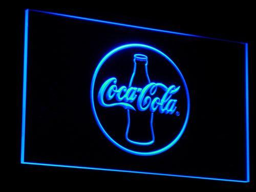 Coca-Cola Silhouette LED Neon Sign a022 - Blue