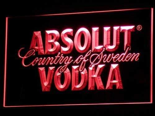 Absolut Vodka Country of Sweden Beer LED Neon Sign a025 - Red