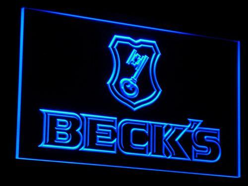 Beck's Beer Bar Pub Club LED Neon Sign a029 - Blue