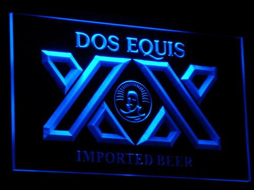 Dos Equis Beer LED Neon Sign a042 - Blue
