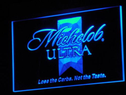 Michelob Ultra Beer LED Neon Sign a051 - Blue