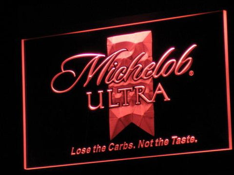 Michelob Ultra Beer LED Neon Sign a051 - Red