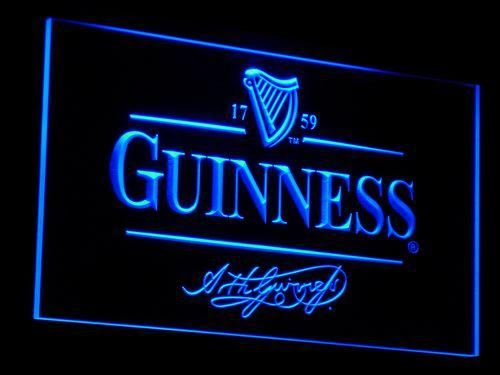 Guinness Beer LED Neon Sign a057 - Blue