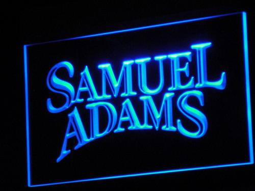 Samuel Adams American Brewing LED Neon Sign a058 - Blue