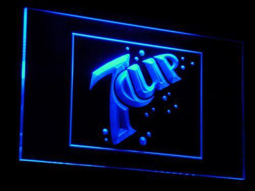 7 Up Drink LED Neon Sign a060 - Blue
