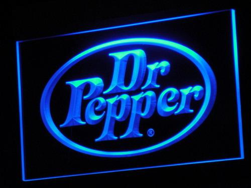 Dr Pepper Soft Drink LED Neon Sign a070 - Blue