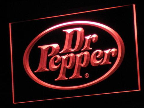 Dr Pepper Soft Drink LED Neon Sign a070 - Red