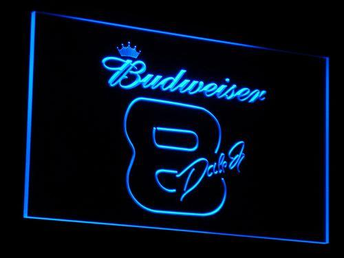 Budweiser 8 Dale Jr. LED Neon Sign a072 - Blue