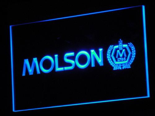 Molson Canadian Beer LED Neon Sign a073 - Blue