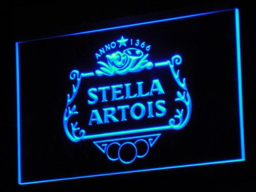 Stella Artois Beer LED Neon Sign a075 - Blue