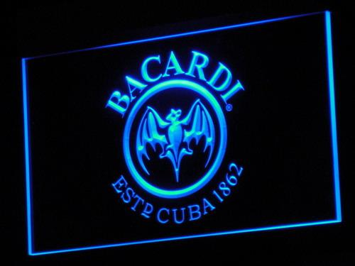 Bacardi Breezer Bat Bar LED Neon Sign a078 - Blue