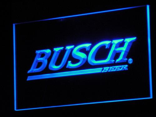 Busch Beer LED Neon Sign a090 - Blue