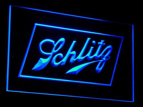 Schlitz Beer LED Neon Sign a093 - Blue