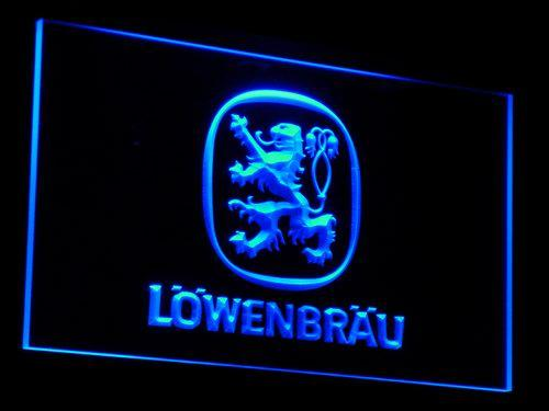 Lowenbrau Beer LED Neon Sign a097 - Blue