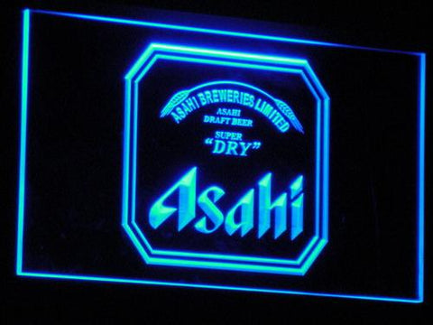 Asahi Beer LED Neon Sign a102 - Blue