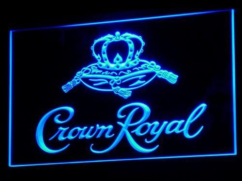 Crown Royal Beer LED Neon Sign a104 - Blue
