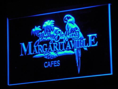 Jimmy Buffett Margaritavill LED Neon Sign a110 - Blue