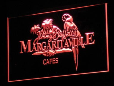 Jimmy Buffett Margaritavill LED Neon Sign a110 - Red