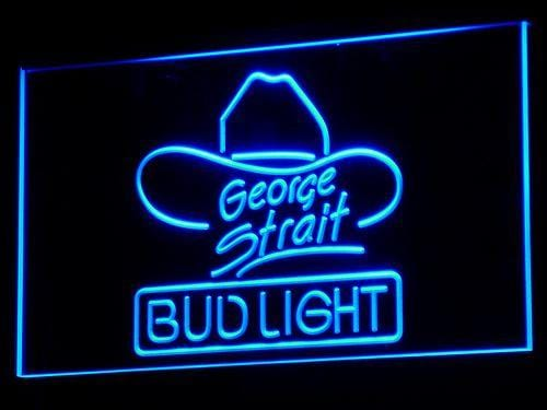 Bud Light George Strait LED Neon Sign a116 - Blue
