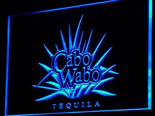 Cabo Wabo Tequila Bar Beer Pub LED Neon Sign a137 - Blue