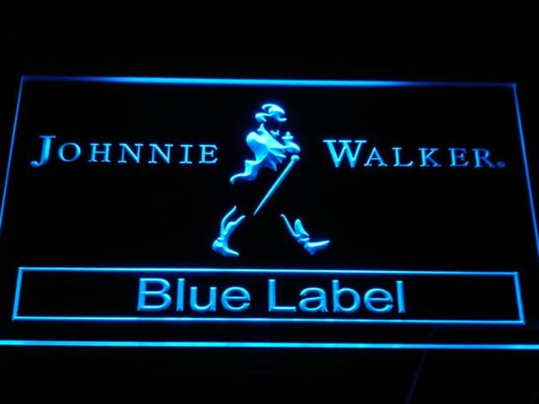 Johnnie Walker Blue Label LED Neon Sign a147 - Blue