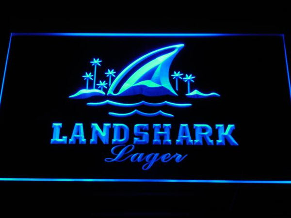 Landshark Lager Bar Pub Club LED Neon Sign a158 - Blue