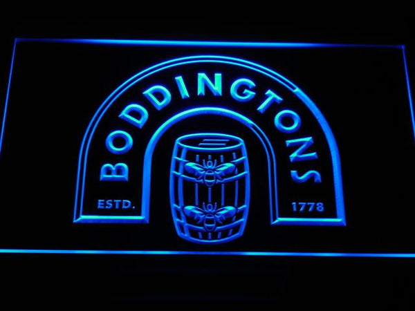 Boddingtons Beer LED Neon Sign a168 - Blue