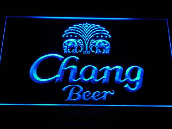 Chang Beer LED Neon Sign a170 - Blue