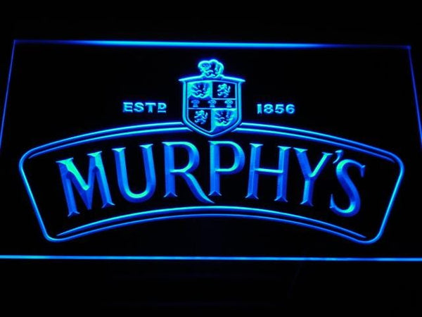 Murphys Irish Stout LED Neon Sign a174 - Blue