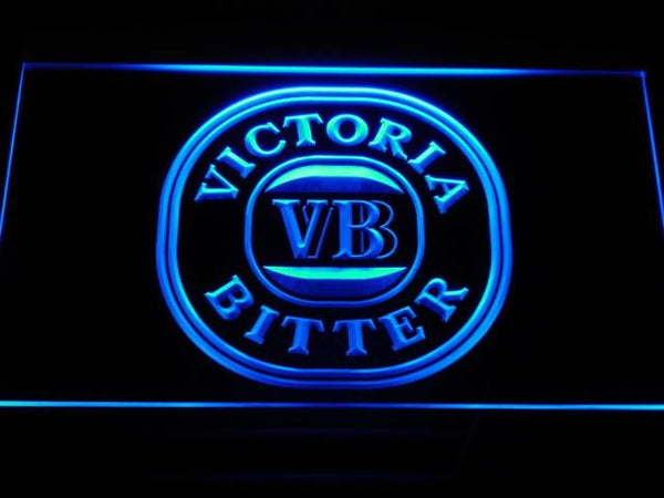 Victoria Bitter Beer LED Neon Sign a179 - Blue