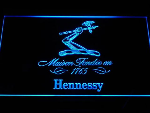 Hennessy Cognac LED Neon Sign a186 - Blue