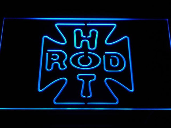 Hot Rod Cross LED Neon Sign a201 - Blue