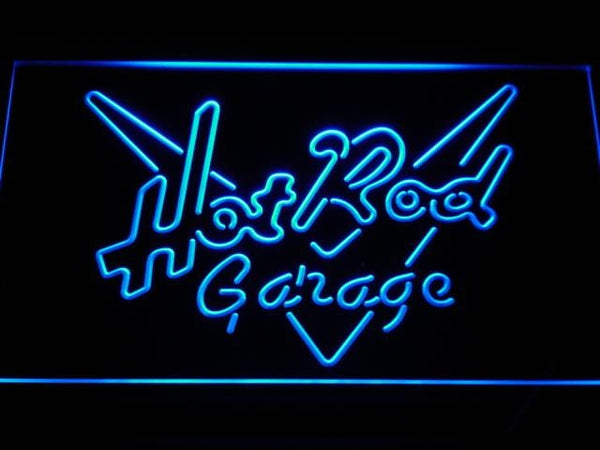Hot Rod Garage LED Neon Sign a202 - Blue