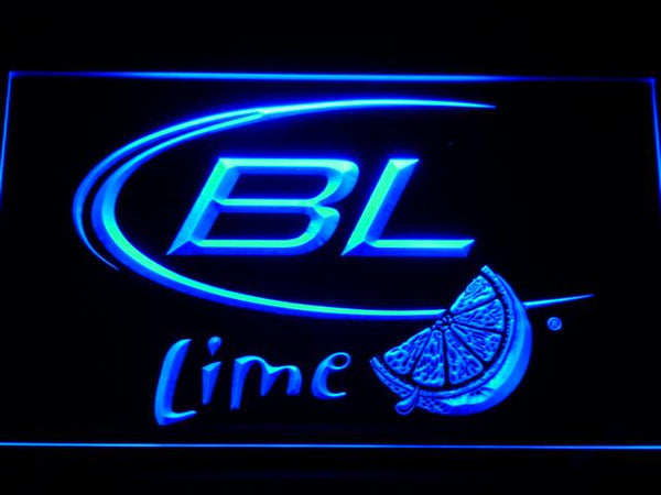 Bud Light Lime Beer LED Neon Sign a214 - Blue
