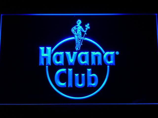 Havana Club Rum LED Neon Sign a218 - Blue