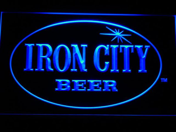 Iron City Beer LED Neon Sign a220 - Blue